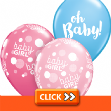 New Baby Latex Balloons